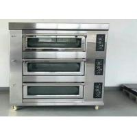 Quality Stainless Steel Baking Oven 3 Deck 9 Trays Electric / Gas Deck Oven for sale