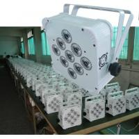 Quality 9X10W 4 In 1 DMX Wireless LED Par Lights 5 / 9 Channels Control Channels for sale