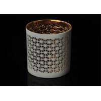 Quality Luxury Custom Ceramic Candle Holder Tealight Candle Holder with Hollow Pattern for sale