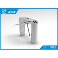 Quality Staff Entrance Arm Stainless Steel Turnstiles Remote Light Indicators Smooth Rotation for sale