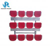 Quality Straight 5 Row Bleachers , Fireproof Portable Aluminum Bleachers With Foot Pads / Plastic Seats for sale