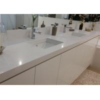 Buy White Artificial Stone Bath Vanity Tops With Sink Eased Edges at wholesale prices