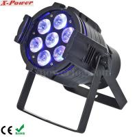 Quality 5 in1 15W RGBWA 7PCS LED Par Can Stage Lights , 15 ~ 40 degree Beam Angle for sale