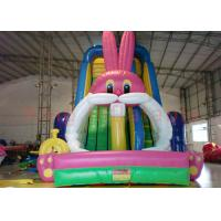 China Playground Funny Inflatable Dry Slide , Outdoor Multicolor Inflatable Animals Slide on sale
