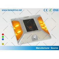 Quality Aluminum Solar Powered LED Raised Pavement Markers Road Light 10 Tons Resistance for sale