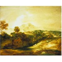 Quality landscape painting mountain lake picture for sale