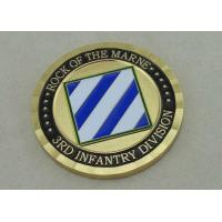 Quality 2.0 Inch Custom Brass Personalized Coins , Gold Plating USA Military Coin for sale