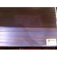 Buy cheap Walnut surface effort--strand woven bamboo flooring with click lock system from wholesalers