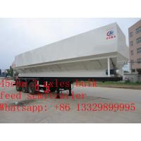 Quality high quality 45cbm feed transportation trailer for sale, CLW brand 20tons farm-oriented electronic system feed trailer for sale