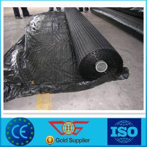China 100KN Biaxial Fiberglass Geogrid , High Flexibility Airport Fiberglass Filaments on sale
