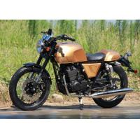 China Safe Fast Gas Powered Motorcycle , Gas Engine Motorcycle Air Cooled Cooling System for sale