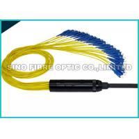 Quality Yellow Pre Terminated Fibre Cable 24 Strands Pulling Eye 10Hz - 55Hz Vibration for sale