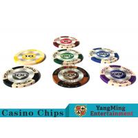 Quality 14g Custom Clay Poker ChipsWith Mette Sticker 3.4mm Thickness for sale
