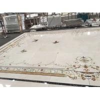 China Luxury Water Ject Stone Mosaic Tile , Interior Marble Inlay Design Hall Floor Tiles on sale