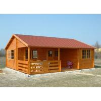 Buy cheap One Floor Outdoor Wooden House In 36mm 72mm 110mm Wall thickness from wholesalers