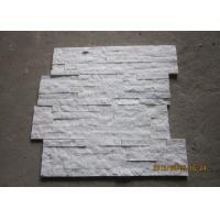 Quality White Quartz Stacked Stone Veneer , Outside Thin Stone Veneer Sheets for sale