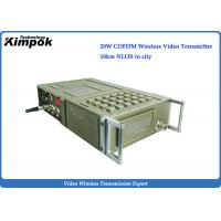 Quality Full featured NLOS AV Wireless Transmitter 1080I HD , COFDM Video Transmitter and Receiver Transmission for sale