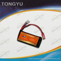 Quality 40C High Rate Rechargeable 7.4V Battery Pack 800mAh , CE ROSH Approval for sale