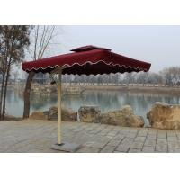 Buy cheap Sunshade Market Rectangular Outdoor Umbrella Windproof Without Water Tank Base from wholesalers