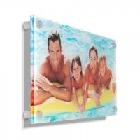 Quality Concise clear acrylic photo frames /wall mounted plexiglass picture holder / decorative lucite block for sale