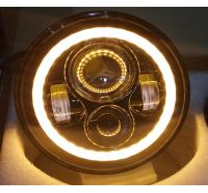 Quality 2 PC 70W 7inch 6000K 3700lm Round Angel Eyes CREE LED Headlights For Jeep Wrangler JK/TJ/LJ/CJ for sale