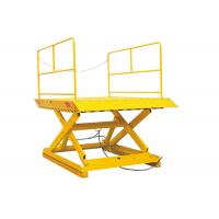 China Hydraulic Stationary Scissor Lift Platforms 1.7 Meter Lifting Height With Double Pump on sale