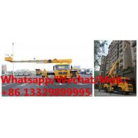 China high quality dongfeng tianjin 4*2 28m telescopic crane boom lift bucket truck for sale, HOT SALE! telescopic aerial work on sale
