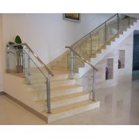 Quality Tempered glass railing with square post for interior staircase glass railing design for sale