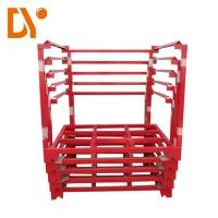 Buy cheap Metal Foldable Stackable Pallet Racks Heavy Duty For Logistic Warehouse from wholesalers