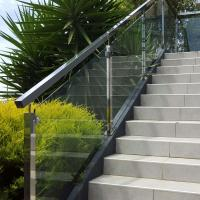 Quality Low Price Stainless Steel Hardware Good Quality Square Pipe Side Mounted Modern Design Glass Railing for sale