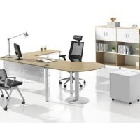 China Simple Design Particle Board Office Desk , Executive Solid Wood Conference Table on sale