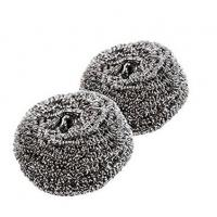 China Round Shape Stainless Steel Cleaning Ball , Harmless To Skin Stainless Steel Scouring Pad on sale