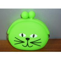 Quality Framed Kid Silicone Coin Pouch Wallet EN71 , Green Coin Holder Purse for sale