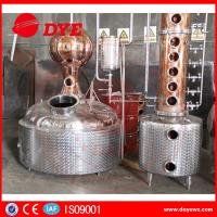 Quality Stainless Steel / Red Copper Column Whisky Alcohol Stills CE Approval for sale