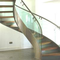Quality Modern Design Stainless Steel Curved Stair / Circular Staircases for sale