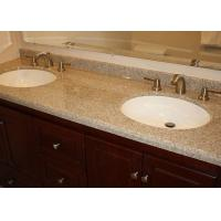 Quality Brown Marble Eased Edges Bath Vanity Tops Single Double Sink Countertop for sale
