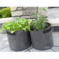 Buy Indoor / Outdoor Drainage Holes Fabric Garden Bags For Planting at wholesale prices