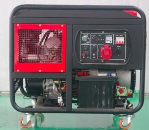 Quality Air cooled 2 cylinder engine 10kva 10kw diesel generator with wheels for sale