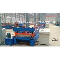 Quality Normal Roofing Sheet Roll Forming Machine With Double Chains Drive 0.3mm - 0.8mm for sale