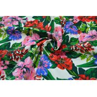 Buy Natural Cotton Fabric / 16OZ Cotton Canvas With Nice Flower Printing at wholesale prices