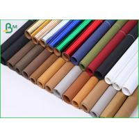 Quality Tearproof Washable Colored Kraft Paper Roll Packing Double Smooth Side for sale