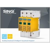 Buy 3 Pole Yellow Surge Protector Device , 1P , 2P , 3P , 4P lightning surge protector at wholesale prices