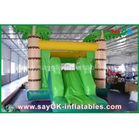 Quality Customize Coconut Tree Green Inflatable Bouncer House For Playing for sale