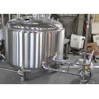Quality 500L Custom Steam Commercial Beer Brewing Equipment With Mash Lauter Tun for sale