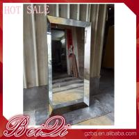Quality Stainless steel mirror salon furniture hairdresser wall mounted white modern salon station for sale