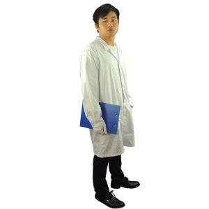 Quality Cleanroom Lab Blue White Static Dissipative ESD Smock for sale