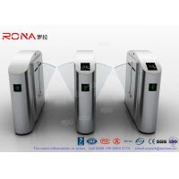 Quality Flap Barrier Gate Flap Wing Automatic Systems Turnstiles Polishing With Anti - Reversing Passing for sale