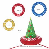 Quality EN71 6P PVC Inflatable Christmas Tree Toss Game For Christmas Parties for sale