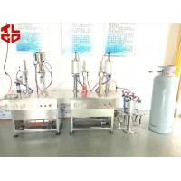 Quality Pneumatic Semi Automatic Aerosol Filling Machine Mousse Aerosol Spray Fillers for sale
