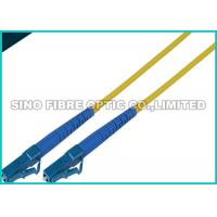 ST - ST Fiber Optic Patch Cables , Aqua PVC Sheath Fiber Jumper Cables